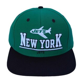 NFL New York Jets 2 Tone Green/Black Snapback 3D Letters Hat