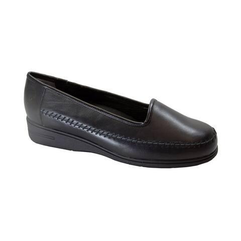 24 HOUR COMFORT Kya Women's Wide Width Comfort Leather Loafers