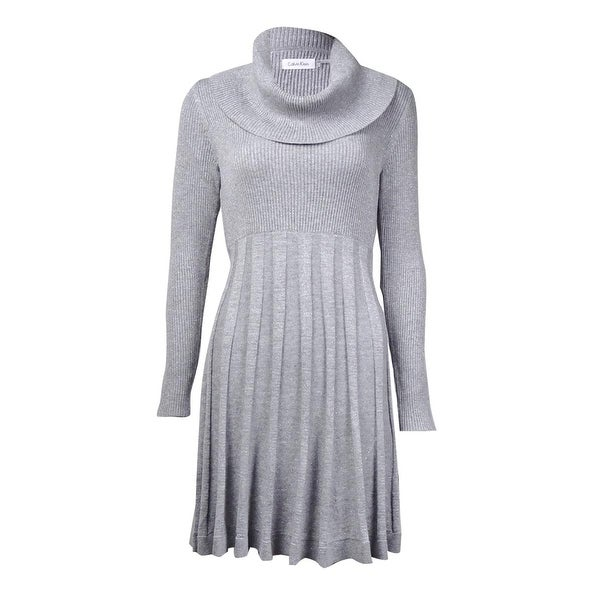 785eaf139c20f Shop Calvin Klein Women's Cowl Neck Fit & Flare Sweater Dress - Free ...