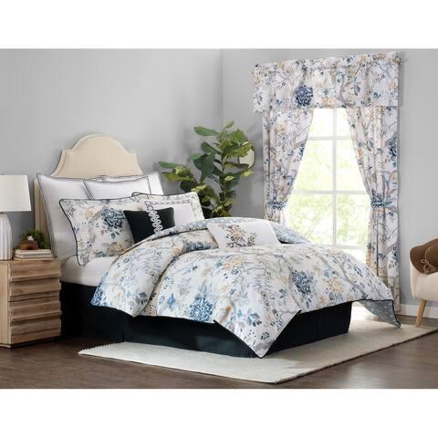 Sidney 4-piece Floral Comforter Set