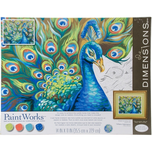 """Paint Works Paint By Number Kit 14""""X11""""-Wild Feathers"""