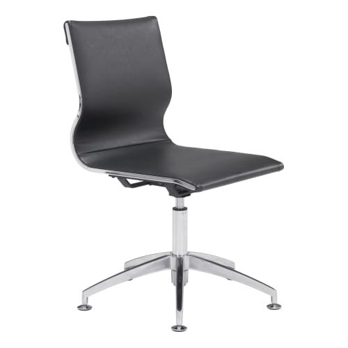 zuo modern 100377 glider 26 wide steel frame modern armless office