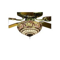 Meyda Tiffany 12706 Tiffany Three Light Down Lighting Fan Light Kit from the Grapevine Collection