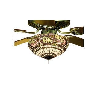 Meyda tiffany ceiling fans for less overstock meyda tiffany 12706 tiffany three light down lighting fan light kit from the grapevine collection aloadofball Images