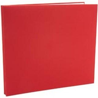 "Red - Colorbok Fabric Post Bound Album 12""X12"""