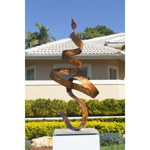 Statements2000 Large Modern Metal Art Abstract Sculpture Decor by Jon Allen - Perfect Moment Flat Base