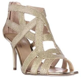 Marc Fisher Nala3 Strappy Dress Sandals, Gold Multi