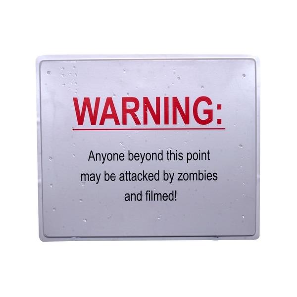 """19 x 16"""" Warning Sign Halloween Prop Indoor & Outdoor"""