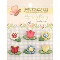 Spring Flowers - Spring Fling Buttons