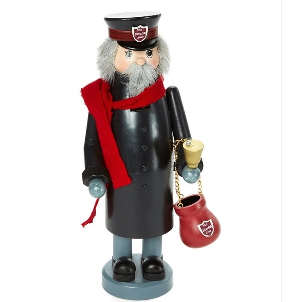 """13"""" Zims Heirloom Collectibles Salvation Army Bell Ringer Christmas Nutcracker"""