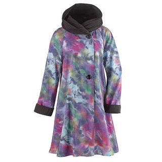 Women's Raincoat - Aurora Borealis Purple Printed Jacket