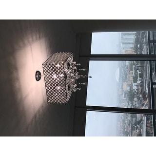 Chrome/ Crystal 4-light Square Chandelier