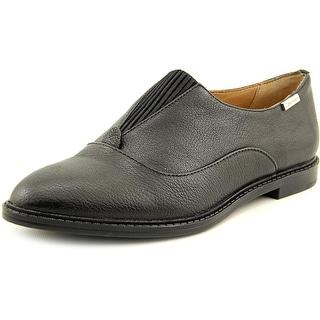 Calvin Klein Daphne Gibson Women Round Toe Leather Black Loafer