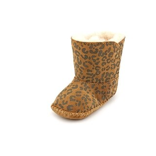 Ugg Australia I Cassie Leopard Infant Round Toe Suede Brown Winter Boot