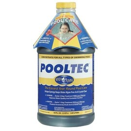 EasyCare 30064 PoolTec Algaecide, Clarifier and Chlorine Salt Cell Booster, 64 o