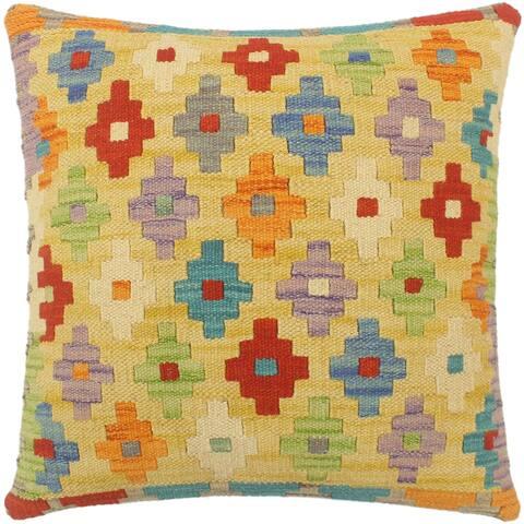 Shabby Chic Turkish Leonard Hand Woven Kilim Pillow