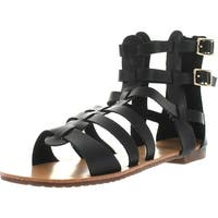 De Blossom Collection Womens Xara-4 Ankle High Short Fashion Gladiator Sandals