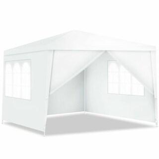 Costway Canopy Party Wedding Event Tent 10'x10' Heavy Duty Outdoor Gazebo Side Walls
