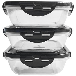6 Pack Fitness 24 oz. Sure Seal SnapLid Containers 3-Pack - Clear/Black