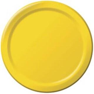 "School Bus Yellow - Luncheon Plates 7"" 24/Pkg"