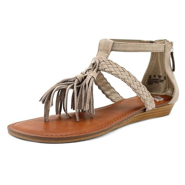 Fergalicious Tanya Women Open Toe Suede Gray Gladiator Sandal