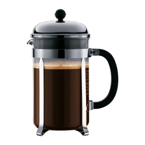Chambord French Press Coffee Maker with Shatterproof Carafe, 51 Ounce, Chrome - 51 Ounce