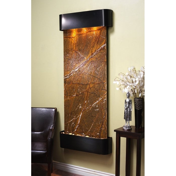 Adagio Inspiration Falls Wall Fountain Rainforest Brown Marble Blackened Copper - Thumbnail 0