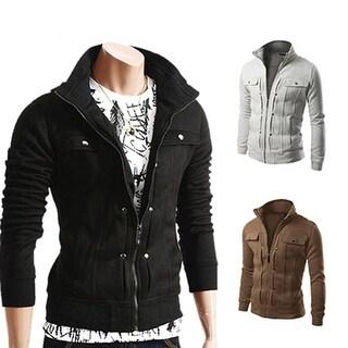 Men's Fashion Warm Zip-up Sweatshirt Hip Hop Tracksuit Cardigan Pullover Outwear