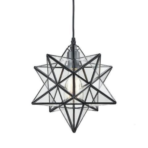 Industrial Moravian star clear glass chandelier,edison pendant light