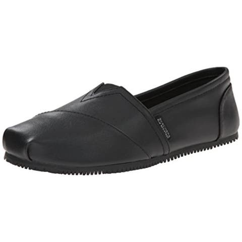 Skechers For Work Women's Kincaid II Slip On Flat w/gore, Black
