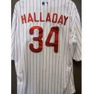 Signed Halladay Roy Philadelphia Phillies Philadelphia Phillies Jersey size 50 on the back autograp
