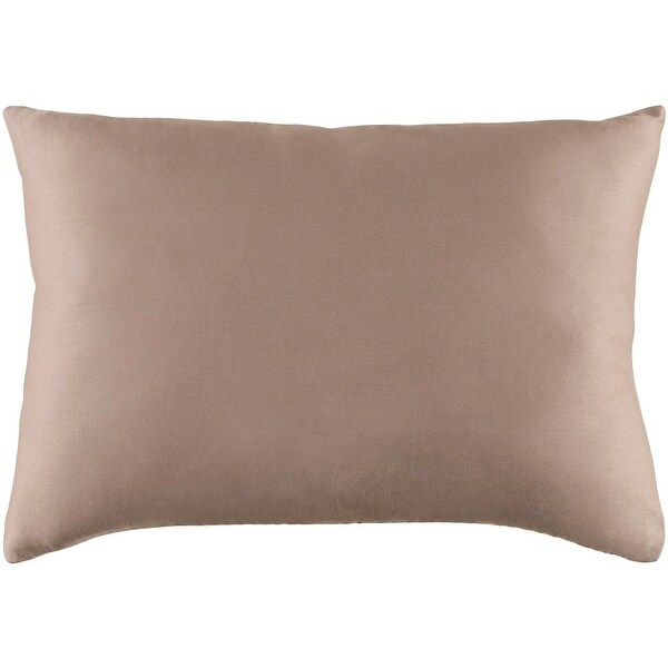 "19"" Light Gray Woven Indoor Rectangular Throw Pillow with Sewn Seam Closure"