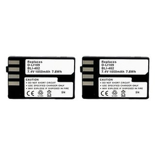 Battery for Pentax DLi109 (2-Pack) Replacement Battery
