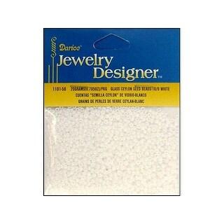 Darice JD Seed Bead 10/0 Ceylon White Pearl
