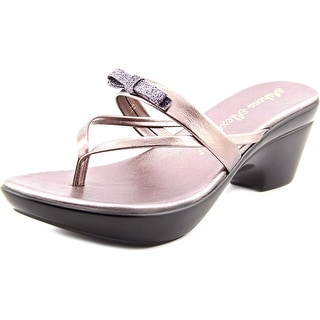 Athena Alexander Leon Women Open Toe Synthetic Silver Platform Sandal