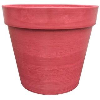 Spigo Contemporary UV-Protected Resin Flower Pot, 14 Inches, Red