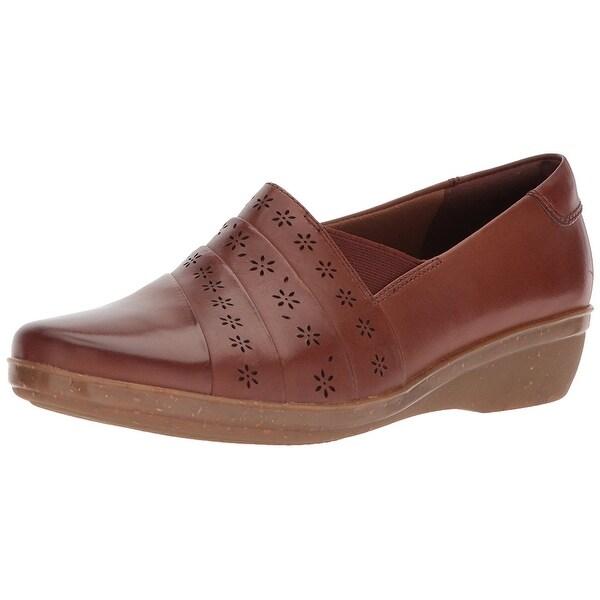 Shop CLARKS Womens Everlay - Closed Toe Slide Flats - - Everlay 21183788 fe787a