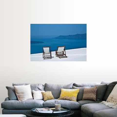 """Deck chair"" Poster Print"