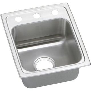 "Elkay PSRQ1517 Pacemaker 15"" Single Basin Drop In Stainless Steel Kitchen Sink"