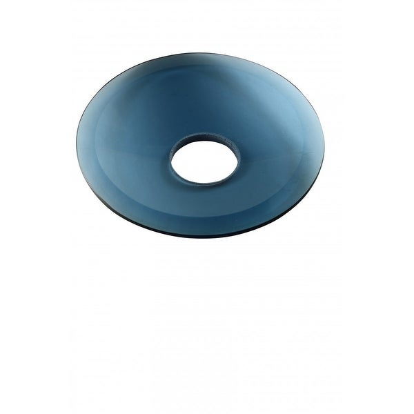 Replacement Waterfall Faucet Blue Glass Disc Plate | Renovator's Supply