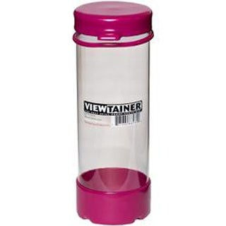 "Raspberry - Viewtainer Tethered Cap Storage Container 2.75""X8"""