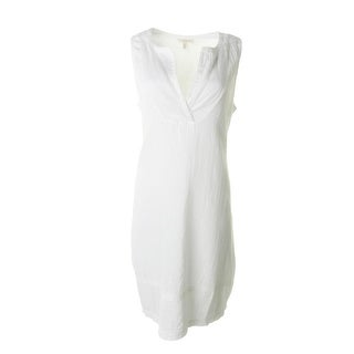 Eileen Fisher Womens Petites Cotton Sleeveless Casual Dress - ps