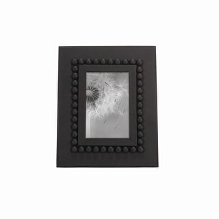 Foreside Home & Garden Black 4 x 6 inch Wood Bead Decorative Wood Picture Frame
