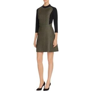 Finity Womens Party Dress Textured Metallic