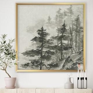 Link to Designart 'Asian Forest' Cabin & Lodge Framed Art Print Similar Items in Art Prints