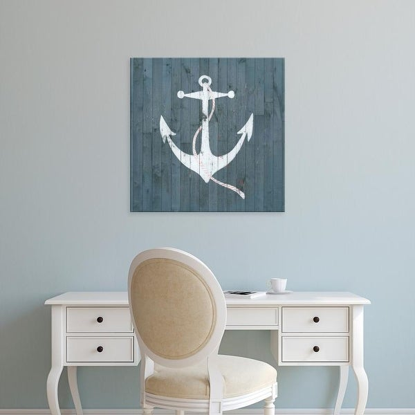 Easy Art Prints Grace Popp's 'Nautical Plank IV' Premium Canvas Art