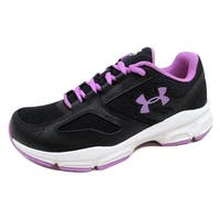 Under Armour Women's Zone Black/White-Purple 1258349-001 Size 6.5