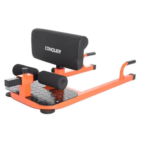 Conquer 3-in-1 Sit Up, Deep Sissy Squat, Push Up Ab Workout Home Gym Machine - Black