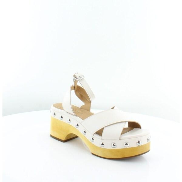 Coach Astor Women's Sandals Chalk - 6.5