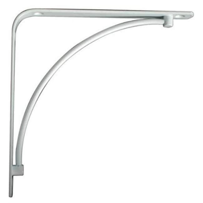 Knape & Vogt 200M-WH-8 Manchester Decorative Steel Shelf Bracket, 8, White